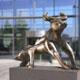Frank B Ehemann Skulptur Bronze Bull Bear Corporate Identity
