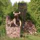Frank B Ehemann Skulptur Bull Bear HOMOBORSUS (Bronze bemalt) ca 120-109-57 cm und groesser lieferbar