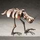 Frank B Ehemann Skulptur ICKS (Bronze poliert) ca 32-40-27cm