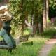 Frank B Ehemann Skulptur SHUNYATA Genesis (Kupfer Blattgold) ca 185-110-100cm