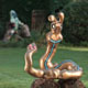 Frank B Ehemann Skulptur YPSIL (Bronze bemalt) ca 117-100-72cm und groesser lieferbar